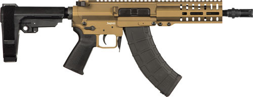 "CMMG Banshee 300 Pistol MK47 7.62x39mm, 8"" Barrel, Burnt Bronze, 30rd"
