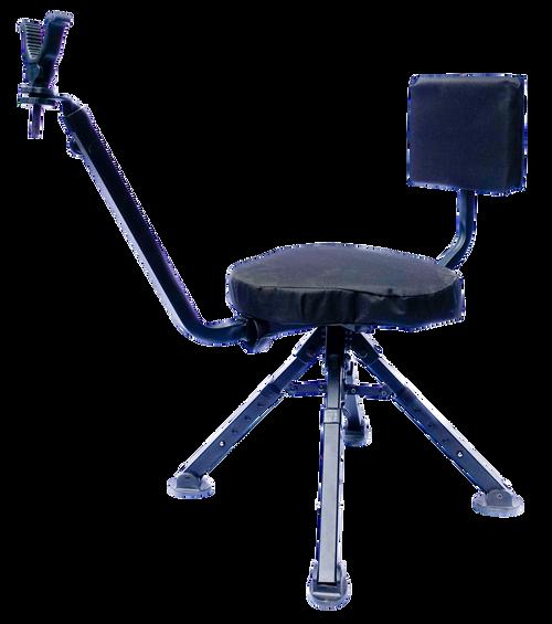 BenchMaster Ground Hunting Shooting Chair 4 Leg Rotating Steel Black