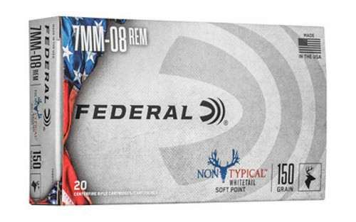 Federal Non-Typical 7mm-08 Rem 150gr, Non-Typical Soft Point, 20rd Box