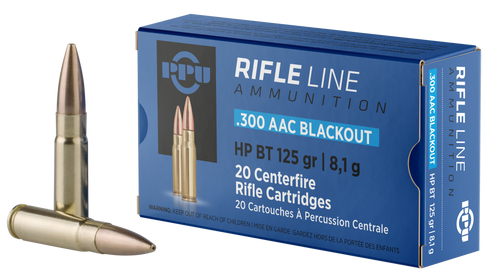 PPU Rifle Line .300 Blackout 125gr, HPBT, 20rd Box