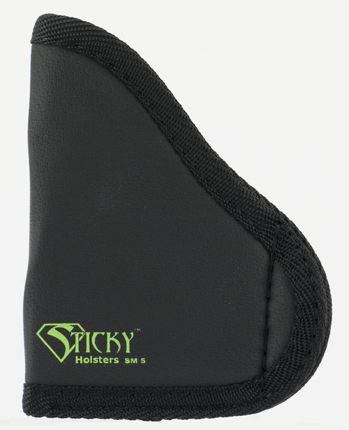 Sticky Holsters SM-5 Glock 42 with Laser Latex Free Synthetic Rubber Black Green Logo