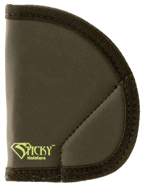 Sticky Holsters MD-5 Ruger LCR/S&W J-Frame Latex Free Synthetic Rubber Black Green Logo