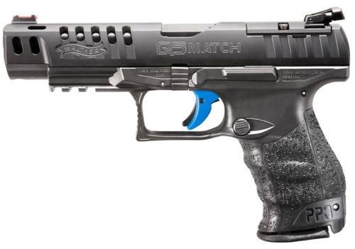 "Walther PPQ M2 Q5 Match, 9mm, 5"" Barrel, Black Tenifer Finish, 15Rd, 3 Mags, Optics Ready"