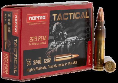 Norma Tac .223 Rem, 55gr, FMJ, 20rd Box