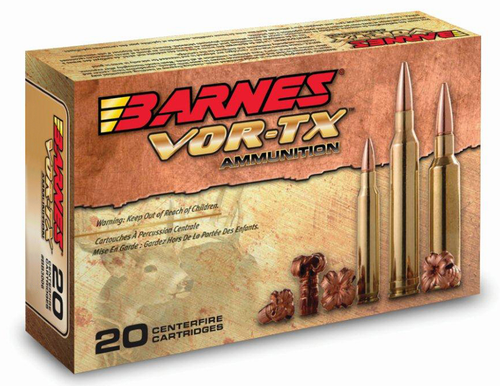 Barnes VOR-TX Rifle 450 Bushmaster 250gr, Tipped TSX Boat Tail, 20rd Box
