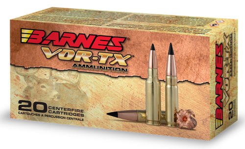 Barnes VOR-TX Rifle 6.5 Grendel 115gr, Tipped TSX Boat Tail, 20rd Box