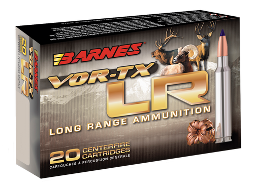 Barnes VOR-TX LR Rifle 7mm RUM 145gr, LRX Boat Tail 20 Bx
