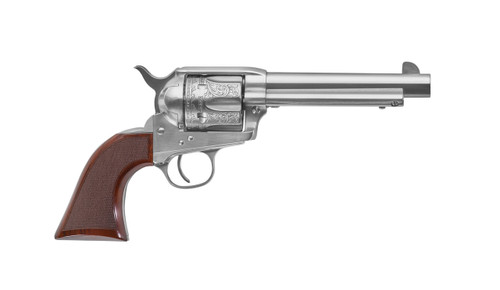 "Uberti 1873 Cattleman El Patron Belleza Limited Edition, 45 Colt, 5.5"", Walnut Grip, Stainless Finish"
