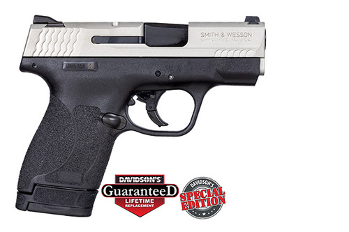S&W M&P Shield 2.0 9mm Cerakote Shimmering Aluminum Slide, 1 7rd & 1 8rd Mag