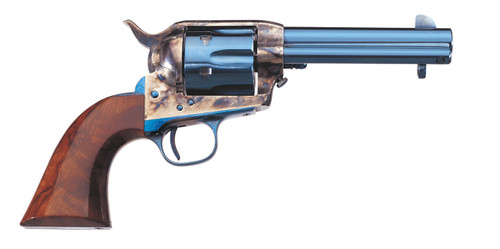 "Uberti Old Model 1873 Cattleman, 4.75"" Barrel, Charcoal Blue, Walnut, 6rd"
