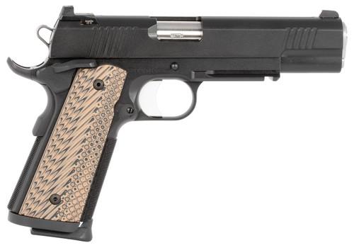 "Dan Wesson Specialist 1911 9mm Luger 5"" Barrel Black Stainless Steel Black/Brown G10 Grip 10rd Mag"
