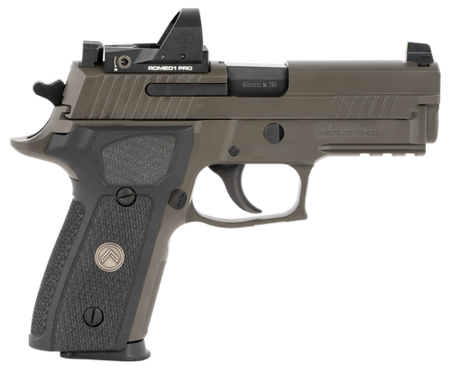 "Sig P229 Legion RXP, DA/SA, Compact, 9mm, 3.9"" Barrel, Alloy Frame, Legion Gray Finish, G10 Grips, Night Sights, Romeo1 Pro Reflex Optic, 10Rd, 3 Magazines"