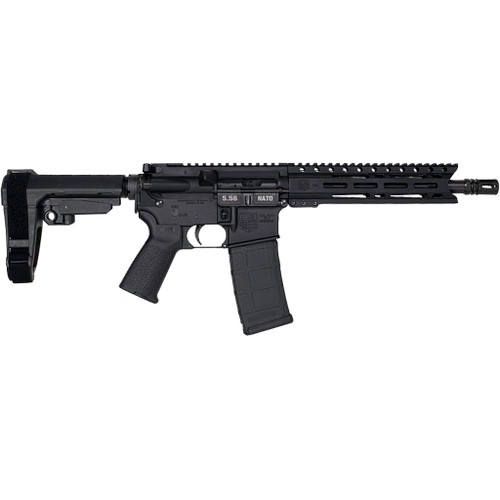 "Diamondback DB15 CARBON AR, 223 Remington/556NATO, 10"" Barrel, Flash Can, 9"" PC M-Lok Rail, Black, SBA3 Brace, Magpul Pistol Grip, 30Rd PMAG"