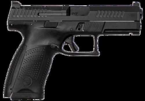 "CZ P-10 USA Compact Optics Ready 9mm Double 4"" Barrel, Black Interchangeable Backstrap Grip Black Polymer Frame Black Nitride Slide, 10rd"