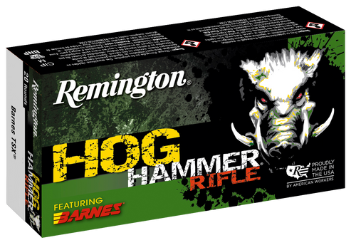 Remington Hog Hammer 45-70 Government 300gr, Barnes TSX Flat Nose, 20rd Box