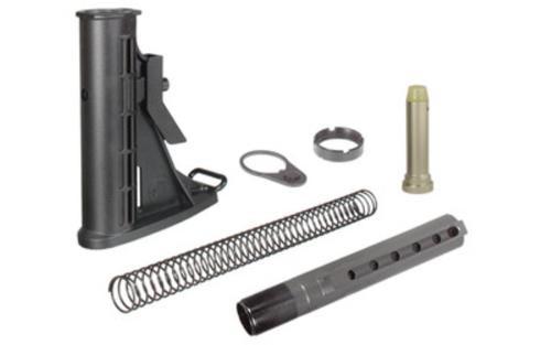 Leapers UTG Model 4, 6-Position Mil-Spec Stock Assembly, Buffer, Buffer Tube, & Spring, Black