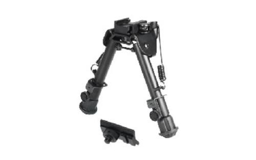 "UTG Tactical Op Bipod, Fits Picatinny or Weaver Rail, 5.9"" - 7.3"", with QD Lever Mount, Black"