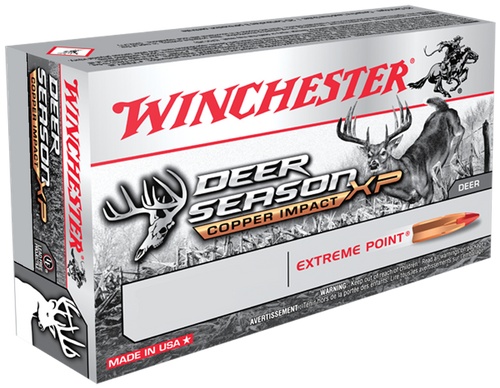 Winchester Deer Season XP Copper Impact 270 Winchester 130gr, Copper Extreme Point, 20rd Box
