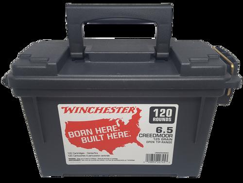 Winchester USA 6.5 Creedmoor 125gr, Open Tip, 120rd Box