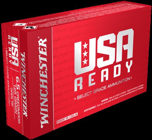 Winchester USA Ready 6.5 Creedmoor 125gr, Open Tip, 20rd Box