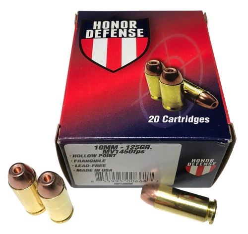 Honor Defense 10mm 125gr, Hollow Point Frangible, 20rd Box