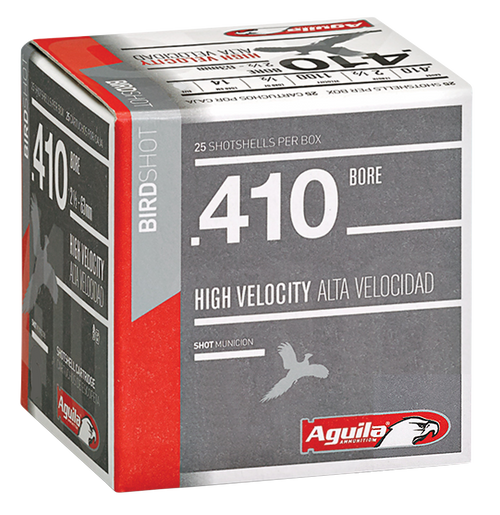 "Aguila Hunting High Velocity 410 Ga, 2.5"", 1/2 oz, 8 Shot, 25rd Box"