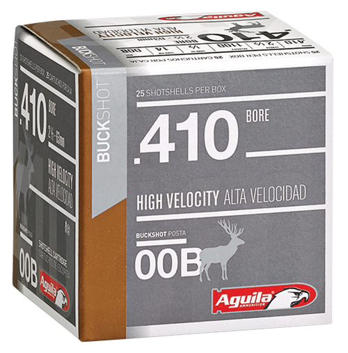 "Aguila Hunting High Velocity 410 Ga, 2.5"", 1/2 oz 9 Shot, 25rd Box"