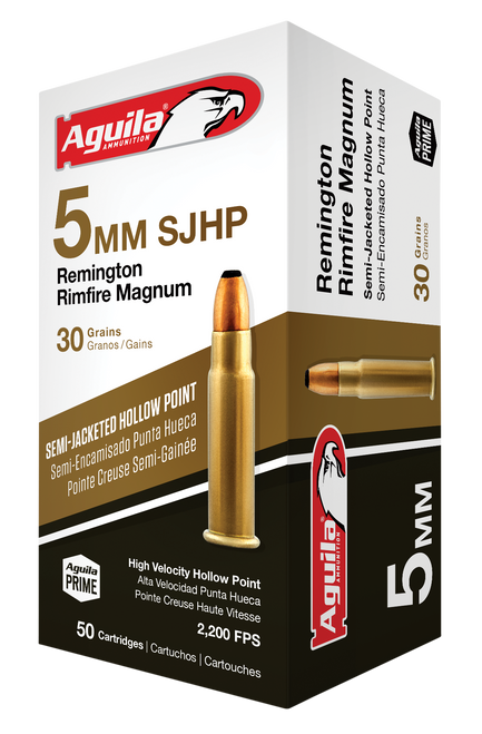 Aguila Special 5mm Remington Rimfire Mag 30gr, Semi-Jacketed Hollow Point, 50rd Box