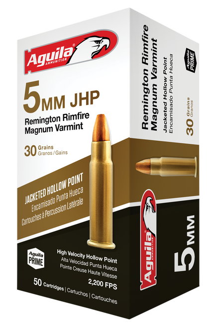 Aguila Special  5mm Remington Rimfire Mag 30gr, Jacketed Hollow Point, 50rd Box