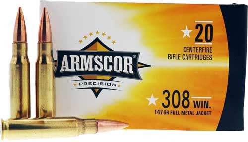 Armscor 308 Win 147gr, FMJ, 20rd Box
