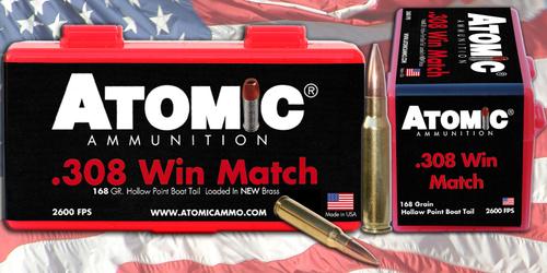Atomic Rifle 308 Win/7.62 NATO 168gr, Tipped MatchKing, 20rd Box