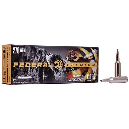 Federal Premium 270 WSM 136gr, Terminal Ascent, 20rd Box