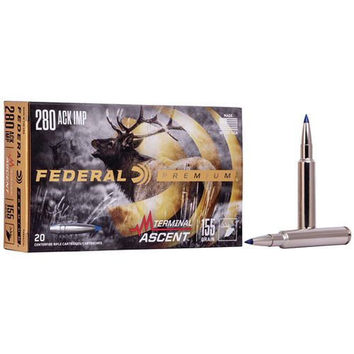 Federal Premium 280 Ackley Improved 155gr, Terminal Ascent, 20rd Box