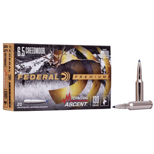 Federal Premium 6.5 Creedmoor 130gr, Terminal Ascent, 20rd Box