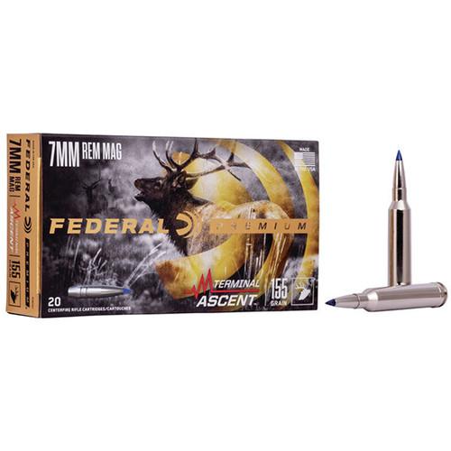 Federal Premium 7mm Remington Mag 155gr, Terminal Ascent, 20rd Box