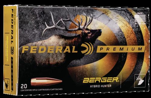 Federal Premium Gold Medal 300 Win Mag 215gr, Berger Hybrid Open Tip Match, 20rd Box