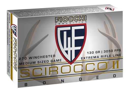 Fiocchi Extrema Hunting 270 Winchester 130gr, Spitzer Boat Tail 20rd Box