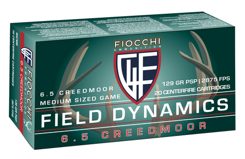Fiocchi Shooting Dynamics 6.5 Creedmoor 129gr, Pointed Soft Point, 20rd Box