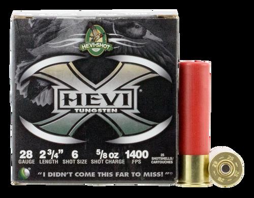 "HEVI-Shot Hevi-X 28 Ga 2.75"", 5/8oz, 6 Shot, 25rd Box"