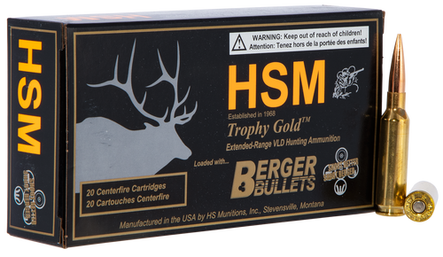 HSM Trophy Gold 6.5 Creedmoor 140gr, Match Very Low Drag, 20rd Box