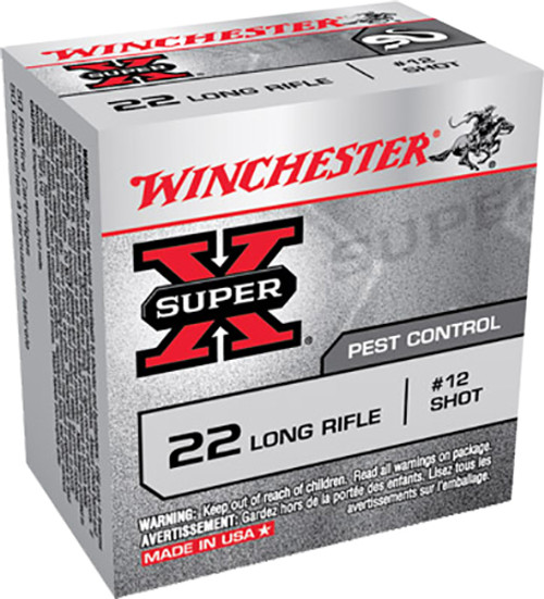 Winchester Super-X 22LR 40gr, #12 Shot, 50rd Box