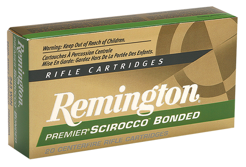 Remington Premier Scirocco Bonded 308 Win/7.62 NATO 165gr, Swift Scirocco Bonded (SSB), 20rd Box