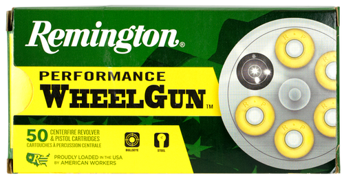 Remington Performance WheelGun 38 Short Colt 125gr, Lead Round Nose, 50rd Box