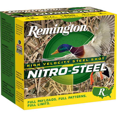 "Remington Nitro Steel 12 Ga, 3.5"", 1.5oz, 2 Shot, 25rd Box"