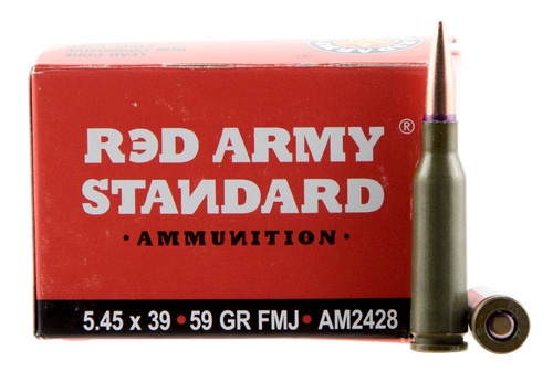 Red Army Standard Red Army Standard 5.45x39mm 59gr, Full Metal Jacket Boat Tail, 20rd Box