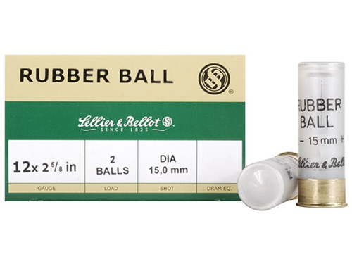 "Sellier & Bellot Rubber Ball 12 Ga, 2.625"", 25rd Box"