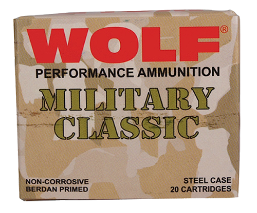 Wolf Military Classic 30-06 Springfield 168gr, FMJ, 500rd/Case