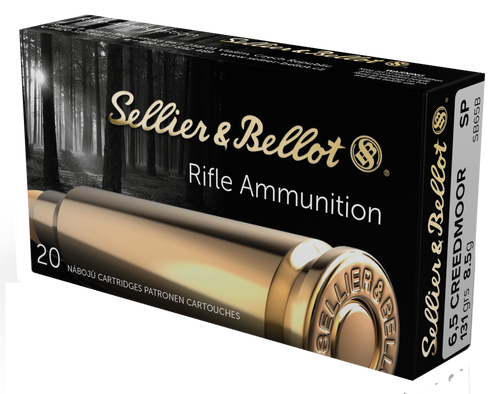 Sellier & Bellot Rifle 6.5 Creedmoor 131gr, Soft Point, 20rd Box
