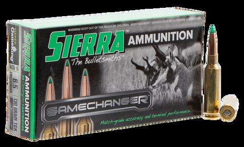 Sierra Bullets, GameChanger, 6.5 Creedmoor, 130Gr, Tipped GameKing, 20rd Box