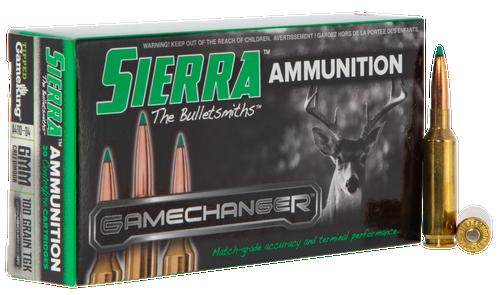 Sierra GameChanger 6mm Creedmoor 100gr, Tipped GameKing, 20rd Box